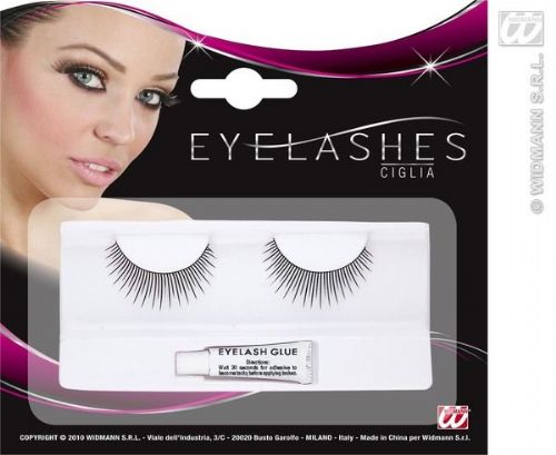 Eyelashes Mixed Short & Long Spikes Black Cosmetics
